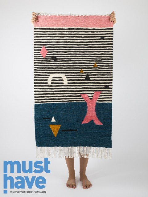Kilim Shapes on Stripes z kolekcji Kilimy Z Polski wyróżnionej znakiem must have