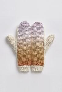 rękawiczki Lawina lila-jasny brąz