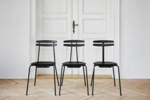 Krzesła Trojka - trzy wersje w kolorze czarnym