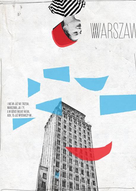 Kolaż z postacią kobiety i budynkiem Prudential