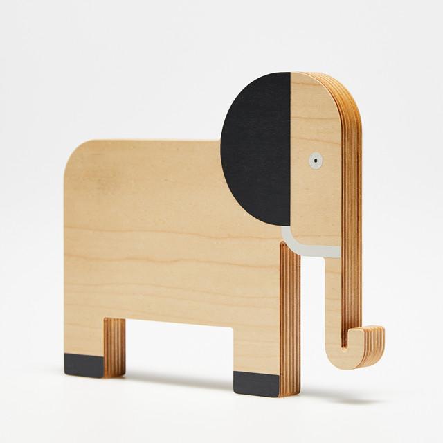 Drewniana zabawka - Słoń. Projekt Dzioopla
