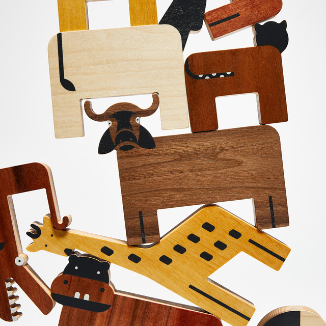 Drewniane figurki Zwierzaki. Projekt Dzioopla