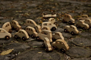 Samochodziki drewniane Wooden Story