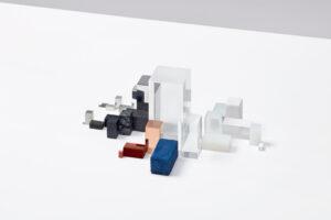 Materialism - Instalacja Studia Drift - sztabki róznych surowców